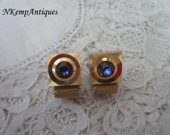 Retro glass cufflinks