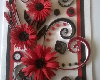 Quilling birthday card valentines day card quilled birthday card greeting card greeting quilled valentine day card quilled valentine card handmade quilling card all occasion card m4hsunfo