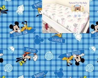 Flannel Disney Changing Pad Cover Boy Girl Nursery Accessories Contoured Changing Pad Cover 100% Cotton Cover Flannel Modern Nursery