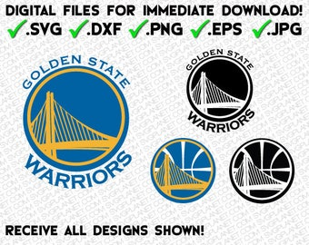 GOLDEN STATE WARRIORS svg - 5 file formats (svg, dxf, png, eps, jpg) download instantly!! logo image vector clipart files cricut silhouette