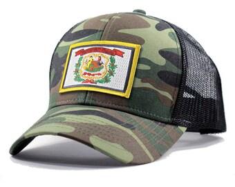 Homeland Tees West Virginia Flag Hat - Army Camo Trucker