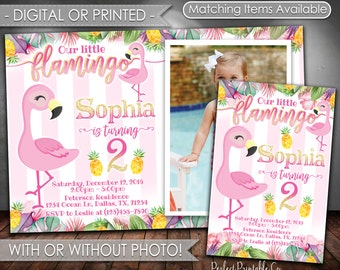 Flamingo Invitation, Flamingo Birthday Invitation, Flamingo Invite, Flamingle, Flamingo Birthday, Flamingo Party, Pink, Girl, Glitter, #530