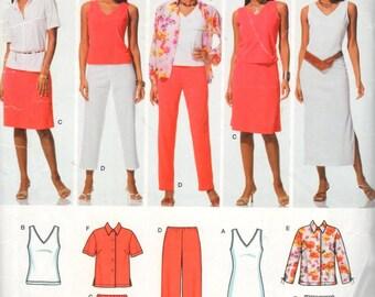 """simplicity 0654, Sz 20W-28W/Bust 42-50"""". Plus Size Tank Top/Tank Dress, Easy to Sew Knit Wardrobe pattern, UNCUT Womens pattern"""
