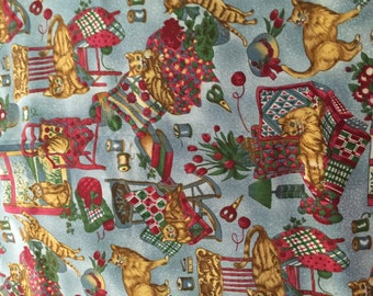 Two Yards of Cat Fabric