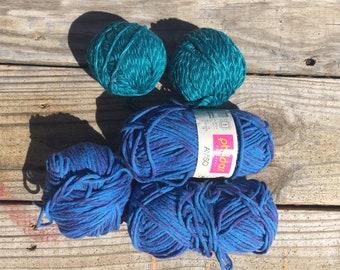 Destash- Cotton/Acrylic Yarns