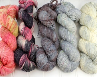 Fading Point Kit, Smoke and Fire Collection - Socklove Fingering, 4 oz