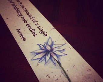 Inspirational Book Mark - love is comprised of a single sould inhabiting two bodies - Aristotle