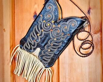 Tony Lama Cowgirl Boot Purse