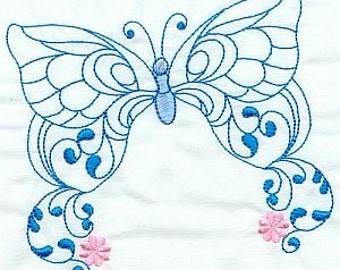 Butterflies - INSTANT DOWNLOAD - Machine Embroidery - 4x4 hoop AND 5x7 hoop