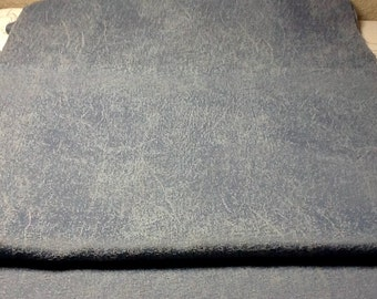 Blue Cotton Heavyweight Fabric  18 inches wide