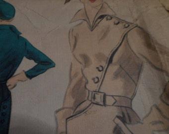 SALE  Vintage 1950's Vogue 553 Couturier Design Dress Sewing Pattern, Size 14 Bust 32