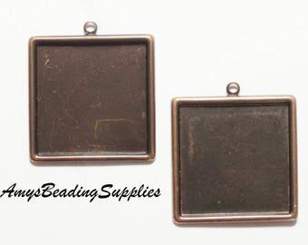 2 Vintaj Classic Square Bezel 29.5mm (P0002)