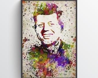 John F. Kennedy Poster, John F. Kennedy Print, John F. Kennedy Art, JFK Decor, Home Decor, Gift Idea