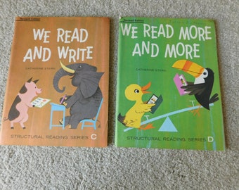 Vintage Elementary School Workbooks Lot of 2 We Read and Write We Read More and More 1966
