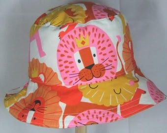 BABY SUN HAT - Summer Bucket Hat  - Cotton Sun Hat - Babys Summer Hat - Reversible Sun Hat - Summer Holiday Beach Hat - Size 3-6 months
