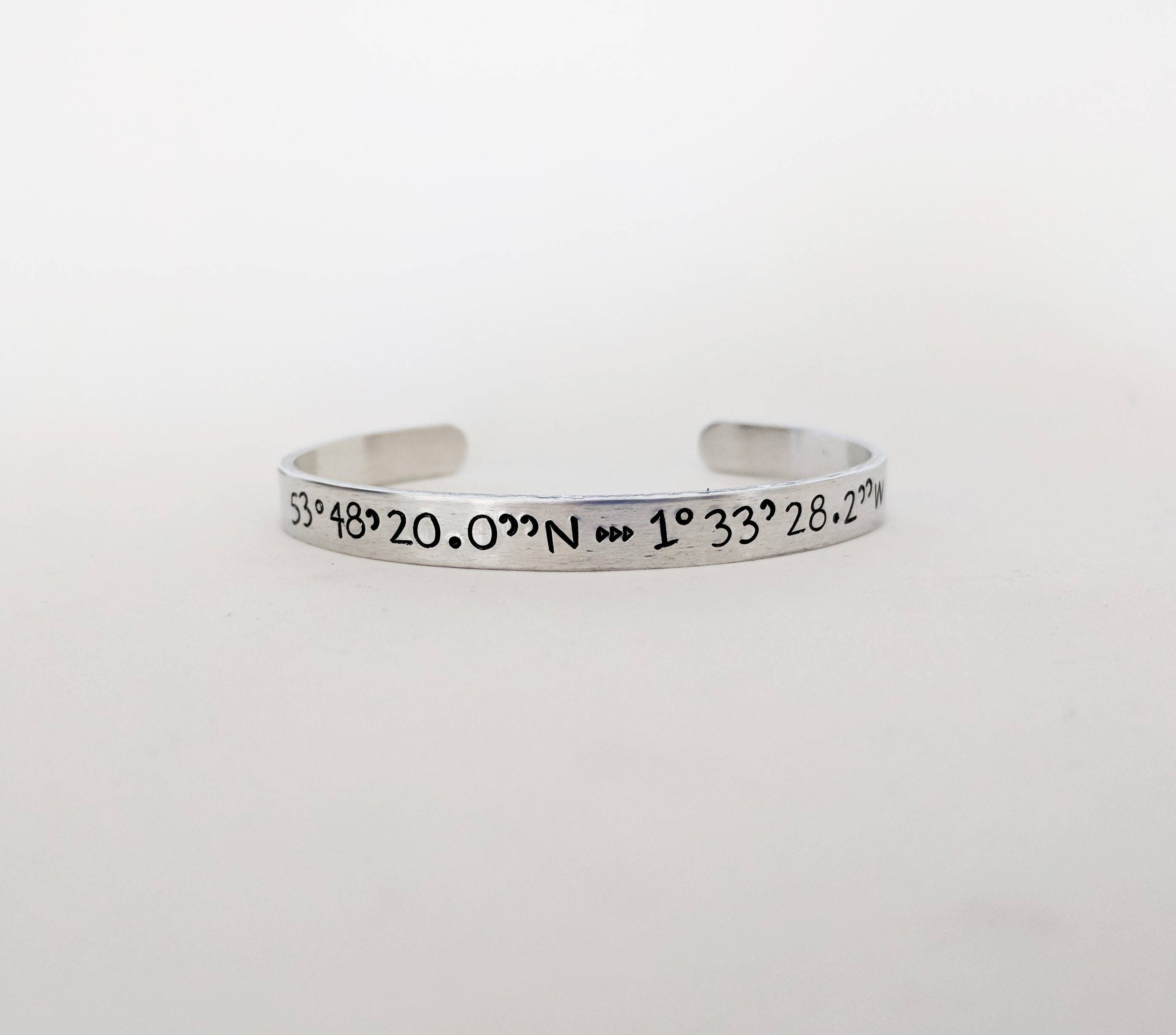location jewelry compass latitude slxr gps silver listing coordinate bracelet longitude il fullxfull bangle