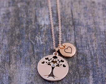 Tree-of-life | Tree-of-life pendant | Family Tree Necklace | Tree-of-life jewelry | Rose gold necklace | Personalised jewelry| Tree of life|