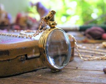 gold oval memory glass locket photo locket heirloom keepsake necklace 14 karat gold filled 24 inch chain size small