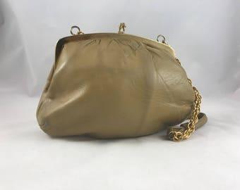 Vintage Soft Tan Leather Contessa Handbag