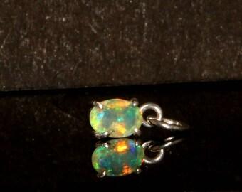 Opal Pendant-Silver Opal Fire Cut pendant-Sterling Silver Cut Opal Gemstone-handicraft -opal lover - jewelry-Gift to Her Elegant Pendant#Po1