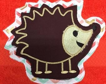 Hedgehog Towel/hedgehog applique