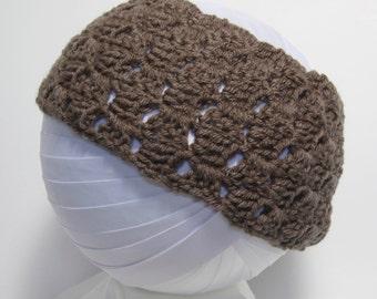 Taupe Headband, Brown Headband, Brown Ear Warmer, Taupe Ear Warmer, Brown Crochet Headband, Brown Crochet, Brown Crochet Ear Warmer