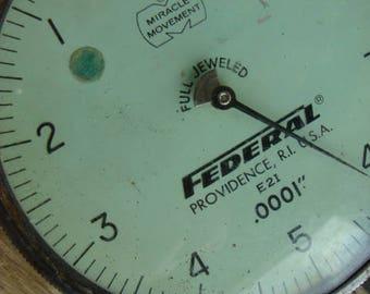 Antique Industrial Pressure Gauge N095