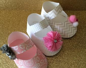 Baby Shower Baby Shoe Favor- PRINTABLE PDF