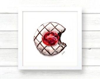 kitchen art dessert painting print