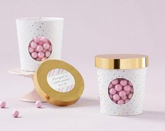 Ice Cream Favor Box:  Set of 12