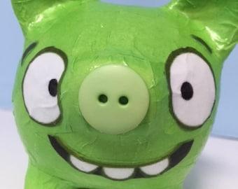 Angry Birds Bad Piggies Decoupage Piggy Bank