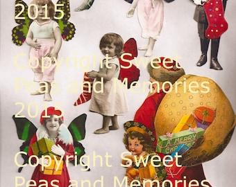 A Little Christmas Cheer Digital Collage Sheet