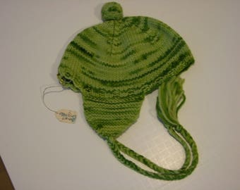 Hand knit Wool Flaphat