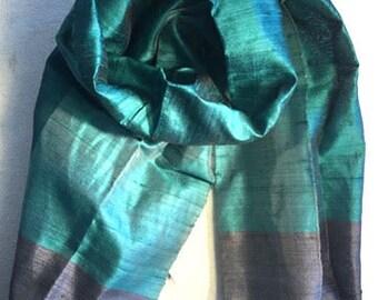 blue green silk scarf black silk scarf turquoise pure silk scarf teal blue silk scarf 100% pure silk scarf silk head scarf aqua silk shawl