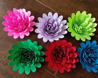 Set of 10 Paper Flowers, Bridal Shower Decor, Baby Shower Decor, Table Decor