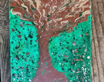 Bohemian Tree Acrylic Painting on Canvas