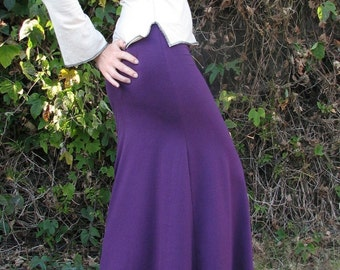 Solar Maxi Flare Skirt, herbandevi, organic clothing, hemp clothing, custom fit