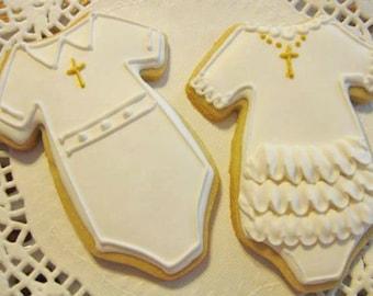 Communion/Baptism Onsies - sugar cookies