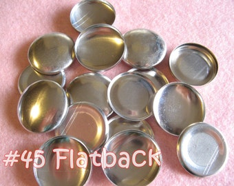12 Covered Buttons FLAT BACKS- 1 1/8 inches - Size 45  flat backs no loops covered buttons notion supplies diy refill