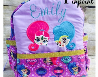 Shimmer and Shine Backpack,    Customized, 100% made from scratch!