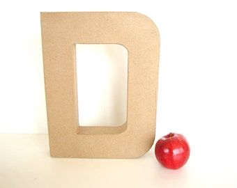 "Paper Mache Letter D (12"" tall) - Ready to Decorate Blank Letter, Home Decor, and more"