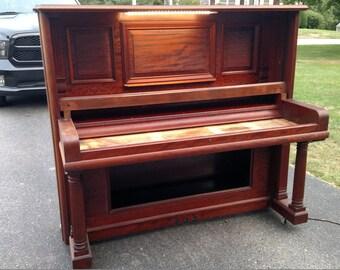 Speakeasy upcycled Piano Bar in Mahogany and Copper