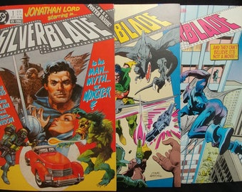 DC Comics Silverblade Lot of 3, 1987