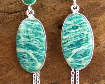 Jewelry AMAZONITE earrings natural stone, amazonit, jewels, natural stone aje3 amazonit