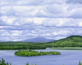 Art Print - Rangeley Lake in May