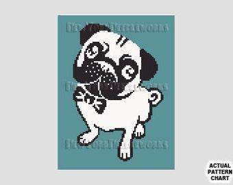 Pug Dog Cross Stitch, Dog Cross Stitch, Silhouettes, Silhouettes, Pug Pattern, Cross Stitch, Bulldog, Animal Cross Stitch NewYorkNeedleworks