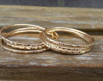 This Listing Lets You Choose The Gauge And Size Of One 14k gold filled ADULT Bangle