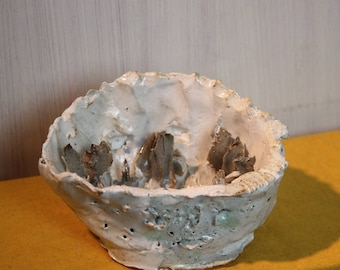 Devotional candle tealight holder stoneware flames