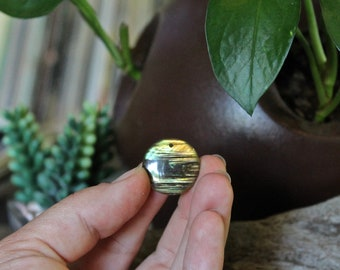 "3/4"" Drilled Labradorite Cabochon Pendant Bead, Top Drilled Round Shaped Gemstone for Wire Wrapping and Jewelry Making"