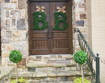 24 inch Boxwood Letter Wreaths